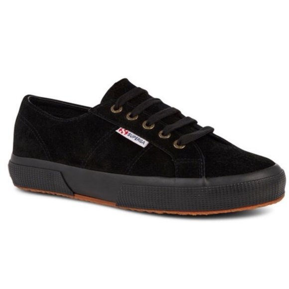 Superga Shoes   Black Suede Sneakers